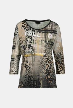Monari Mustermix-Shirt mit Lackdruck, 3/4 Arm