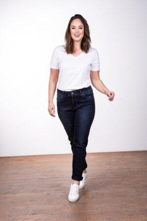 PURPLE LILY Jeans Lily-R003 dunkelblau