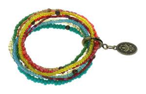 5450543913940___Konplott-Armband-elastisch-Petit-Glamour-d-Afrique-pastel-multi-antique-brass