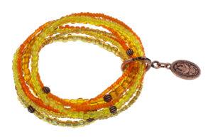 5450543914183___Konplott-Armband-elastisch-Petit-Glamour-d-Afrique-yellow-orange-antique-copper