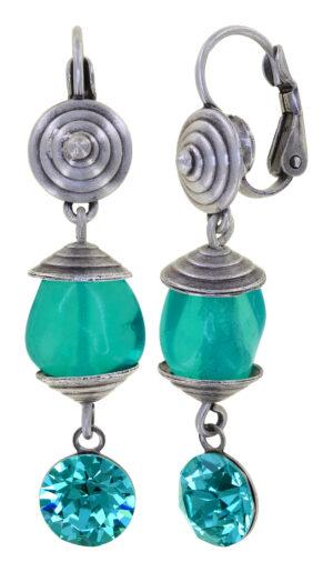 5450543915326___Konplott-Ohrringe-mit-Klappbrisur-Candycal-blue-light-antique-silver