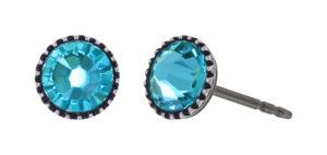5450543919621___Konplott-Ohrstecker-Black-Jack-blue-lt.turquoise-antique-silver