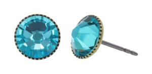 5450543919799___Konplott-Ohrstecker-Black-Jack-blue-lt.-turquoise-antique-brass