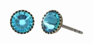 5450543919805___Konplott-Ohrstecker-Black-Jack-blue-lt.turquoise-antique-brass
