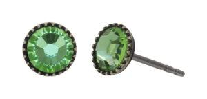 5450543919843___Konplott-Ohrstecker-Black-Jack-green-peridot-antique-brass
