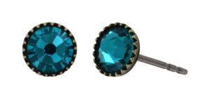 5450543920399___Konplott-Ohrstecker-Black-Jack-blue-zircon-antique-brass
