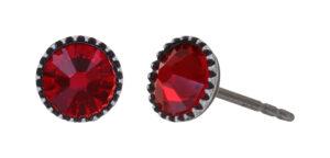 5450543920436___Konplott-Ohrstecker-Black-Jack-red-light-siam-antique-silver