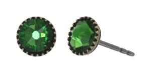5450543920511___Konplott-Ohrstecker-Black-Jack-green-fern-antique-brass