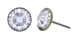 5450543920566___Konplott-Ohrstecker-Black-Jack-white-crystal-antique-brass