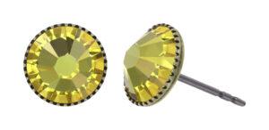 5450543920580___Konplott-Ohrstecker-Black-Jack-yellow-light-topaz-antique-brass