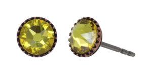 5450543920719___onplott-Ohrstecker-Black-Jack-yellow-sunflower-antique-copper
