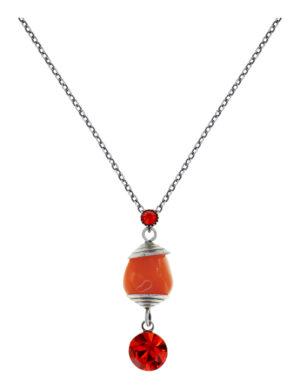 5450543923239___Konplott-Kette-mit-Anhaenger-Candycal-red-orange-light-antique-silver