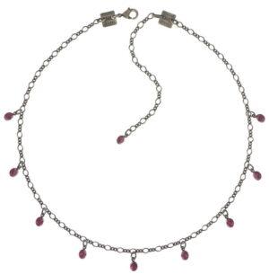 5450527591621Konplott-Kette-steinbesetzt-Tutui-fuchsia-pink-antique-silver