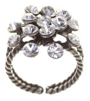 5450527611640Konplott-Ring-Magic-Fireball-crystal-white-antique-silver