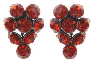 5450527640428Konplott-Magic-Fireball-Ohrstecker-Traube-red-