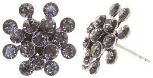 5450543656281Konplott-Ohrstecker-Magic-Fireball-mini-grey-crystall-silver-antique-silver