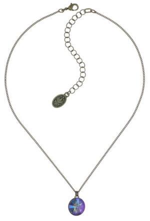 5450543783680_Konplott-Halskett-mit-Anhaenger-Rivoli-lila-crystal-paradise-antique-brass