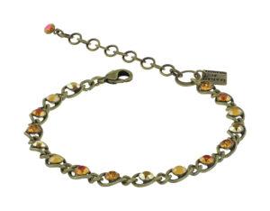 5450543914503Konplott-Armband-Magic-Fireball-yellow-classic-antique-brass