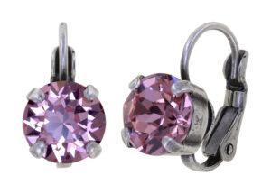 5450543923444_Konplott-Ohrhaenger-mit-Bresur-Black-Jack-pink-light-rose-antique-silver